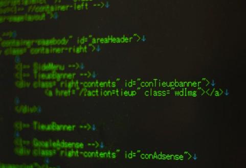 テキストエディタに表示されているHTMLコード
